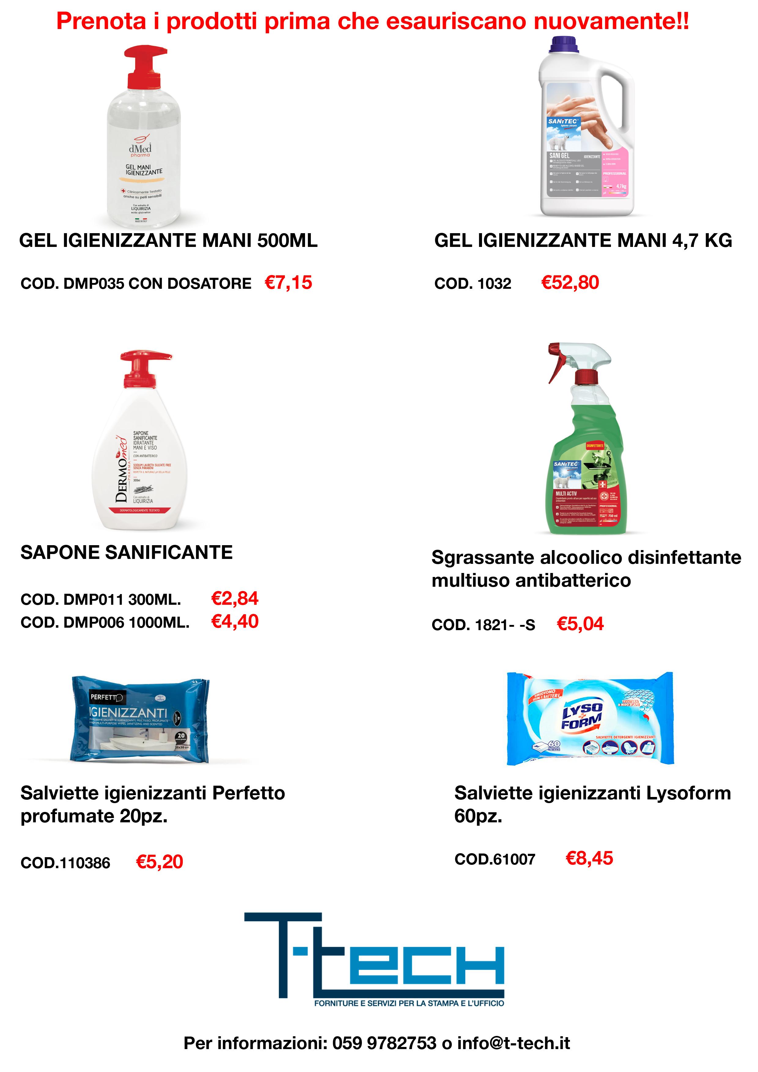 Prodotti disinfettanti